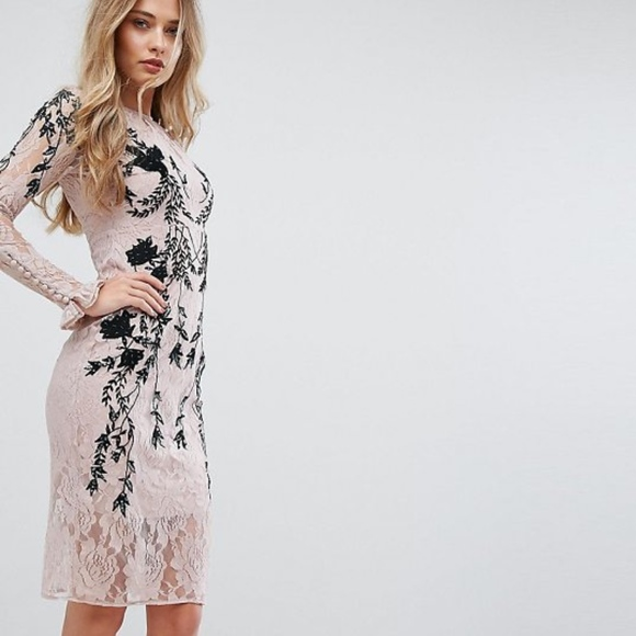 ASOS Dresses & Skirts - Hope and Ivy Hope & Ivy Long Sleeve Embellished